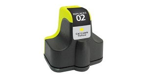 HP 02 C8772WN Yellow Inkjet Cartridge PhotoSmart 3110, 3210, 3310, 8250, C5100, C7200, D7100, D7400