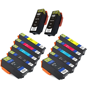 12 Pack Epson 273XL Photo Black Cyan Magenta Yellow Inkjet Cartridge T273 T273XL