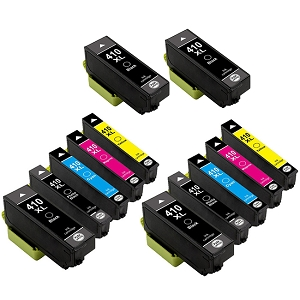 12 Pack Epson 410 Expression XP-530 XP-630 XP-640 XP-7100 XP-830 Remanufactured High Yield Ink Cartridges