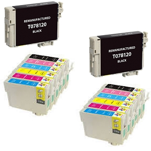 14 Pack Epson T078 T077 Stylus Photo Artisan 50 & Stylus Photo Inkjet Cartridges