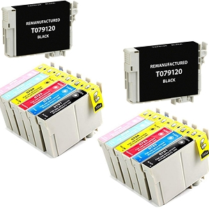 14 Pack Epson 79 T079 Artisan 1430, Stylus Photo R1400 Inkjet Cartridges