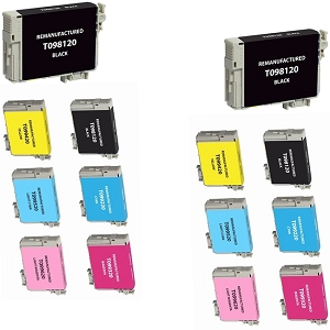 14 Pack Epson T098 T099 BK/C/M/Y/LC/LM Compatible Ink Cartridges Artisan 700 710 725 730 800 810 835 837