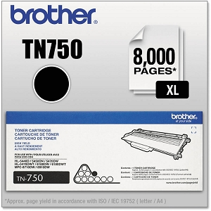 Brand New Original Brother TN750 TN-750 Black Toner Cartridge