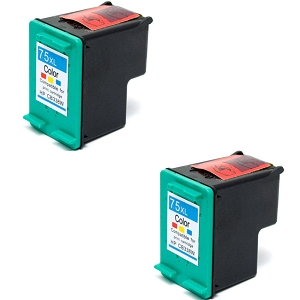 2 Pack HP 75XL CB338WN Tri-Color High Yield Inkjet Cartridge