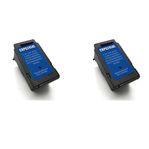 2 Pack Canon PG245XL PG-245XL PG 245XL Black Inkjet Cartridge
