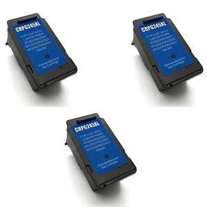 3 Pack Canon PG245XL PG-245XL PG 245XL Black Inkjet Cartridge