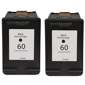 2 Pack HP 60 CN640WN Black Inkjet Cartridge