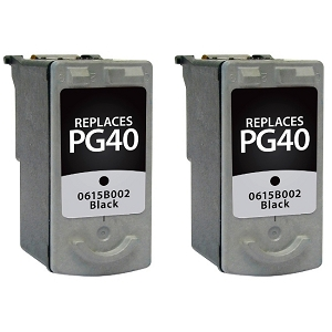 2 Pack Canon PG-40 PG40 0615B002 Black  Inkjet Cartridge PIXMA IP1200 - PIXMA MX310