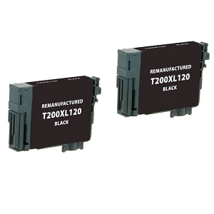 2 Pack Epson T200XL T200XL120 Black High Yield Inkjet Cartridge