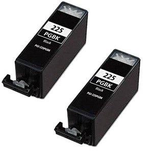 2 Pack Canon PGI-225 PGI-225BK 4530B001AA Black Inkjet Cartridge Pixma iP, iX, MG, MX
