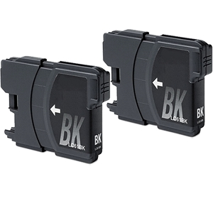 2 Pack Brother LC61 LC61BK LC-61BK Black Inkjet Cartridge DCP Series and MFC Series