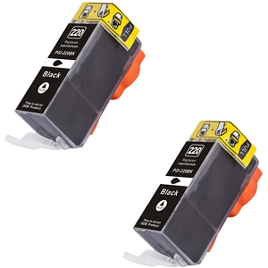 2 Pack Canon PGI-220BK 2945B001 Black Inkjet Cartridge PIXMA MP980, PIXMA MP990
