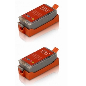 2 Pack Canon CLI-36 CLI36 1511B002 Tri-Color Inkjet Cartridge PIXMA IP100V, iP100, iP110