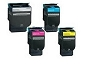 4 Pack Lexmark C540H1 KG/CG/MG/YG High Yield Toner Cartridge C54x, X54x