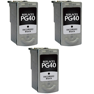 3 Pack Canon PG-40 PG40 0615B002 Black  Inkjet Cartridge PIXMA IP1200 - PIXMA MX310