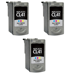 3 Pack Canon CL-41 CL41 0617B002 Tri-Color Inkjet Cartridge
