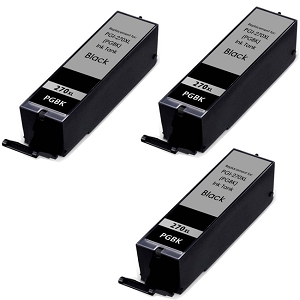 3 Pack Canon CLI-271 CLI-271XLBK 0336C001 Black High Yield Ink Cartridge
