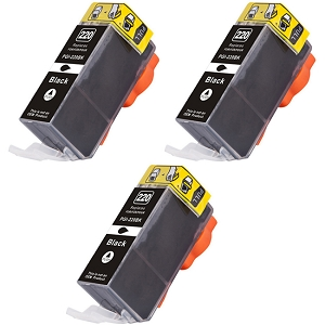 3 Pack Canon PGI-220BK 2945B001 Black Inkjet Cartridge PIXMA MP980, PIXMA MP990