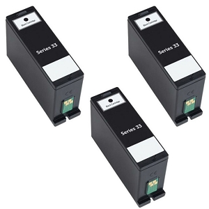 3 Pack Dell Series 31 32 33 34 V525W V725W Compatible Dell 331-7377 331-7689 Black Extra High Yield Inkjet Cartridge