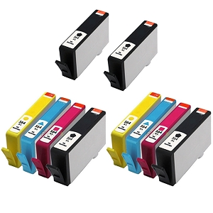 10 Pack HP 564XL BK/C/M/Y Compatible High Yield Ink Cartridges