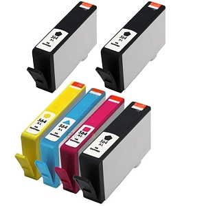 6 Pack HP 564XL BK/C/M/Y Compatible High Yield Ink Cartridges