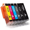 6 Pack of PGI270XL Black - CLI271XL C/Y/M/BK/GY High Yield Inkjet Cartridge compatible PGI-270 CLI-271