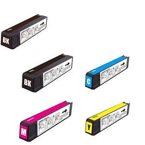 5 Pack HP 970XLBlack and 971XL C/M/Y OfficeJet Pro X451 X476 X576 Inkjet Cartridges