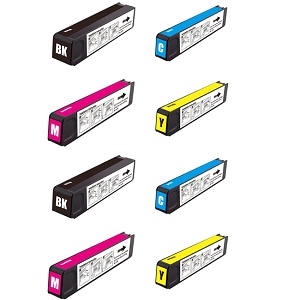 8 Pack HP 970XLBlack and 971XL C/M/Y OfficeJet Pro X451 X476 X576 Inkjet Cartridges