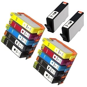 12 Pack HP 564XL BK/PBK/C/M/Y Compatible High Yield Ink Cartridges