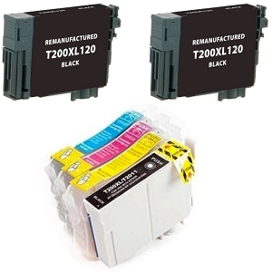 6 Pack Epson T200XL T200XL120 T200XL220 T200XL320 T200XL420 High Yield Inkjet Cartridges