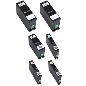 6 Pack Dell Series 31 32 33 34 V525W V725W  Extra High Yield Inkjet Cartridge