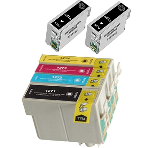 6 Pack Epson T127 T127120 T127220 T127320 T127420 High Yield Inkjet Cartridges