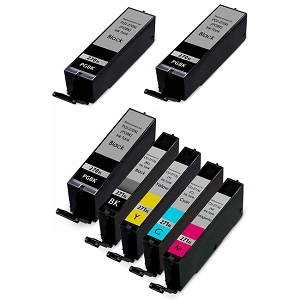 7 Pack Canon PGI-270XLBK Black and CLI-271XL C/Y/M/BK High Yield Ink Cartridges