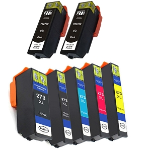7 Pack Epson 273XL Photo Black Cyan Magenta Yellow Inkjet Cartridge T273 T273XL