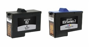 2 Pack Dell 310-3540 7Y743 X0502 Black and 310-3541 7Y745 Tri-Color Compatible Ink Cartridges