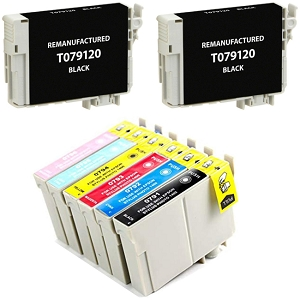 8 Pack Epson 79 T079 Artisan 1430, Stylus Photo R1400 Inkjet Cartridges