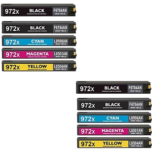 10 Pack HP 972X PageWide Pro 452 477 552 557 High Yield PageWide Ink Cartridges