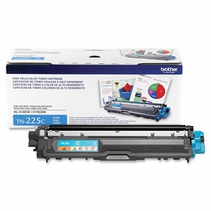 Brand New Original Brother TN225 TN-225 TN225C Cyan High Yield Laser Toner Cartridge