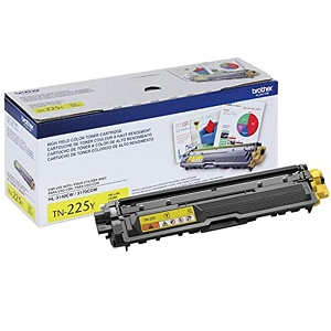 Brand New Original Brother TN225 TN-225 TN225Y Yellow High Yield Laser Toner Cartridge