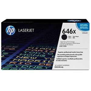 Brand New Original HP 646X CE264X Black Laser Toner Cartridge Color LaserJet Enterprise CM4540, CM4540f, CM4540fskm MFP