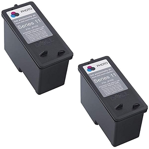 2 Pack Dell Series 11 CN594 JP451 KX701 Black Remanufactured Ink Cartridge V505 V505w 948