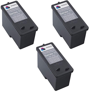 3 Pack Dell Series 11 CN594 JP451 KX701 Black Remanufactured Ink Cartridge V505 V505w 948