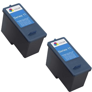 2 Pack Dell Series 11 CN596 JP453 X703 Tri-Colour Remanufactured Ink Cartridge V505 V505w 948