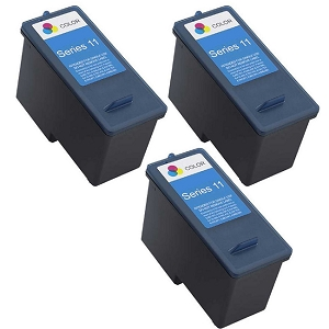 3 Pack Dell Series 11 CN596 JP453 X703 Tri-Colour Remanufactured Ink Cartridge V505 V505w 948