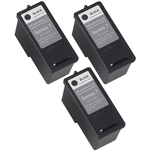 3 Pack Dell Series 7 CH883 310-8373 Black Compatible High Yield Ink Cartridge All-In-One 966 968 968w