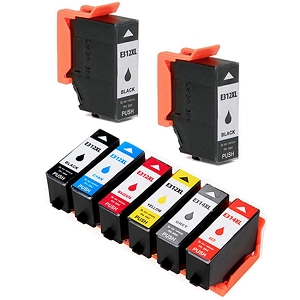 8 Pack Epson T312XL T314XL Expression Photo HD XP-15000 Remanufactured High Yield Ink Cartridges