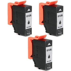 3 Pack Epson T312XL T312XL120 Black Remanufactured High Yield Ink Cartridge Expression Photo XP-8500 HD XP-15000