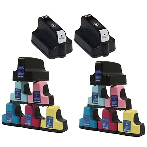 14 Pack HP 02 PhotoSmart 3110, 3210, 3310, 8250, C5100, C7200, D7100, D7400 Inkjet Cartridges