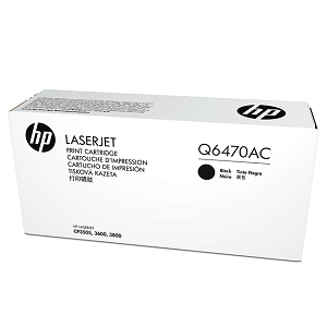 Brand New Original HP 501A Q6470AC Black Contract Toner Cartridge Color LaserJet 3600, 3800, CP3505