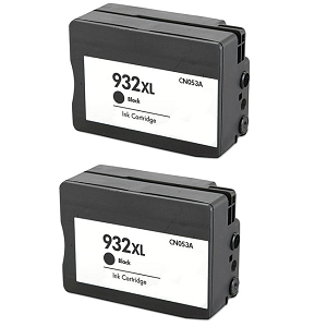 2 Pack HP 932XL CN053AN Black Compatible High Yield Inkjet Cartridge